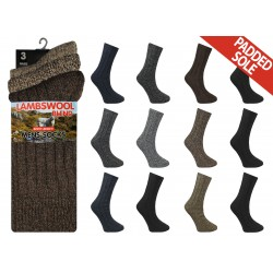 Mens 6-11 Short Wool Blend Assorted Socks