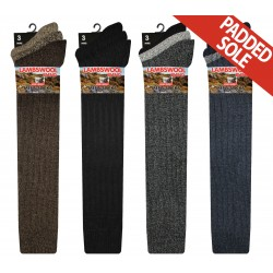 Mens 6-11 Long Wool Blend Assorted Socks