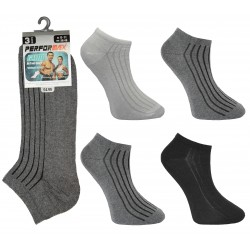 Mens 6-11 Performax Plain Rib Trainer Socks