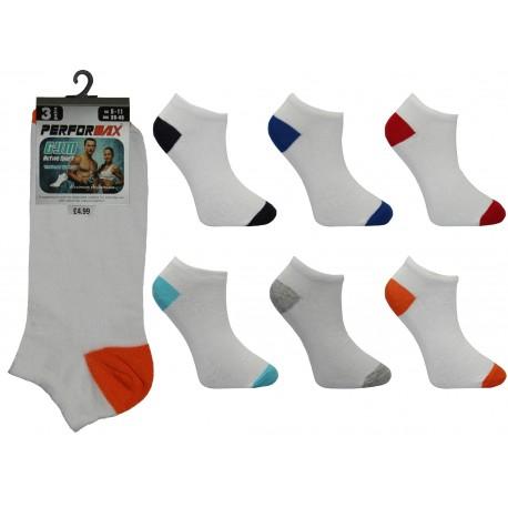 Mens 6-11 Performax Colour H&T Trainer Socks