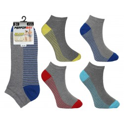 Mens 6-11 Performax Grey Striped Trainer Socks