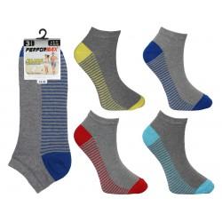 Mens 6-11 Performax Grey Striped Trainer Socks