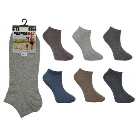 Mens 6-11 Performax Dark Assorted Trainer Socks