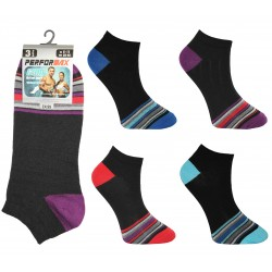 Mens 6-11 Performax Front Striped Trainer Socks