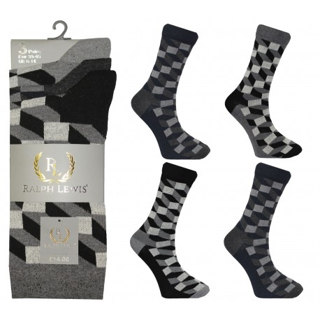 Mens 6-11 Ralph Lewis MZK Everyday Socks