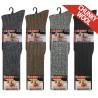 Mens 6-11 Long Chunky Wool Blend Assorted Socks