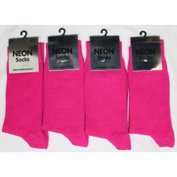 Mens 6-11 Neon Fuschia Socks