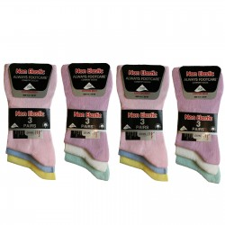 Girls 4-6 Always Footcare Light Pastel Non Elastic Socks
