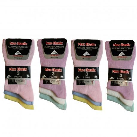 Girls 4-6 Always Footcare Light Pastel Non Elastic Socks