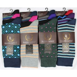 Mens 6-11 Ralph Lewis Suit Design Mix Socks