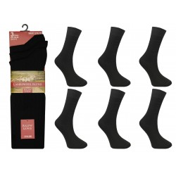 Mens 6-11 Ralph Lewis Short Fine Wool Black Socks