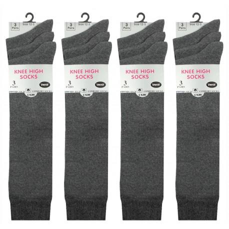 Girls 12-3 Grey Knee High Socks