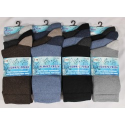 Mens 6-11 Always Fresh Dark Heel & Toe Everyday Socks