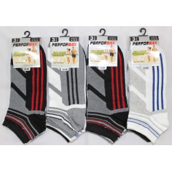 Mens 6-11 Performax V6 Striped Trainer Socks