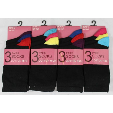 Ladies 4-7 Heel & Toe Ankle Socks