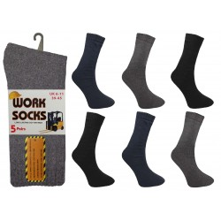 Mens 6-11 Assorted Work Socks 5 Per Pack