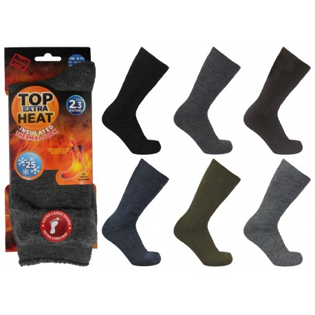 Mens 6-11 Top Heat Extra Insulated Brushed Thermal