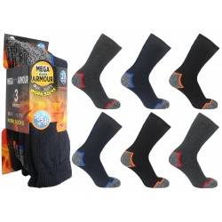 Mens 6-11 Mega Armour Colour Heel & Toe Work Socks