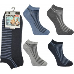 Mens 6-11 Performax Half Stripe Trainer Socks