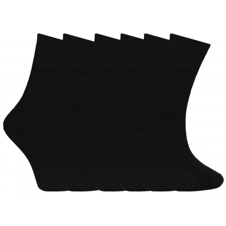 Mens 6-11 Plain Black Everyday Socks