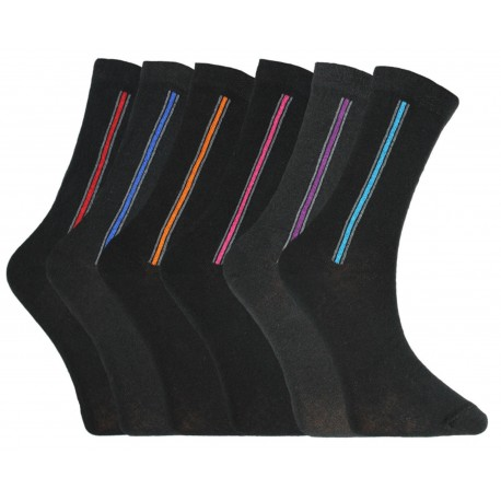 Mens 6-11 Vertical Stripe Everyday Socks