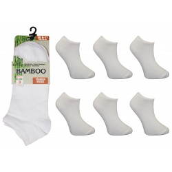Mens 6-11 Ralph Lewis White Bamboo Trainer Socks