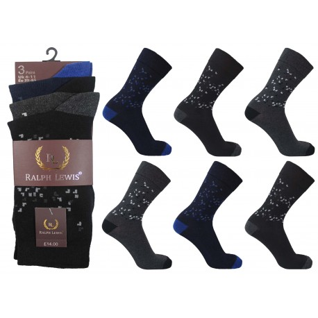 Mens 6-11 Ralph Lewis Space Everyday Socks