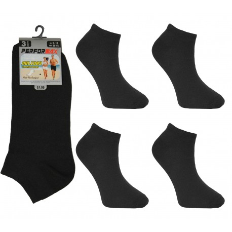 Mens 6-11 Performax Black Trainer Socks