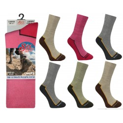 Ladies 4-7 Cotton Blend Thermal Socks
