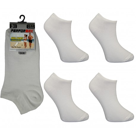 Mens 6-11 Performax White Trainer Socks