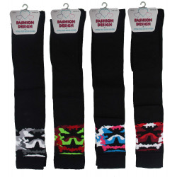 Girls 4-6 Camouflage Over The Socks