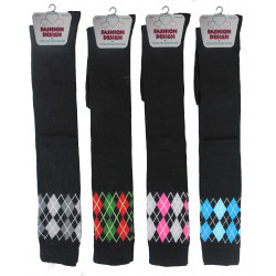 Girls 4-6 Diamond Over The Knee Socks