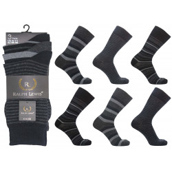 Mens 6-11 Ralph Lewis Dark Stripe Everyday Socks