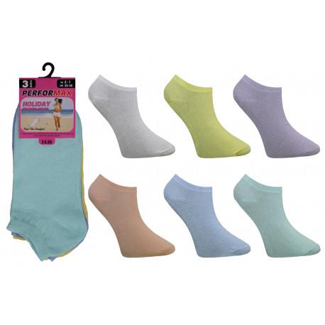 Ladies 4-6 Performax Pastel Trainer Socks