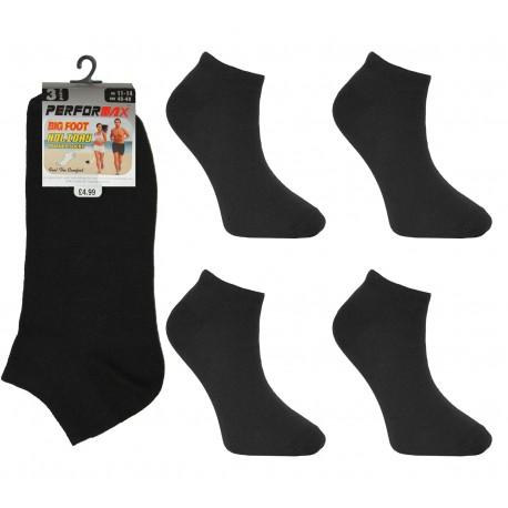 Mens 11-14 Performax Black Trainer Socks Big Foot Size