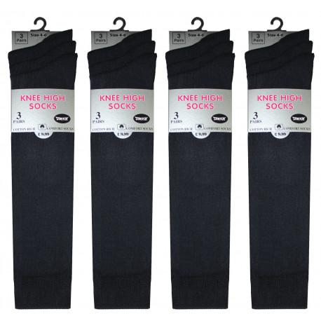 Girls 4-6 Black Knee High Socks