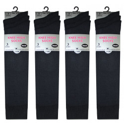 Girls 12-3 White Knee High Socks