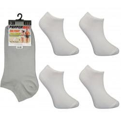 Mens 11-14 Performax White Trainer Socks