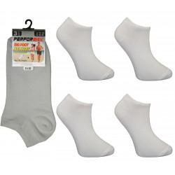 Mens 11-14 Performax White Trainer Socks