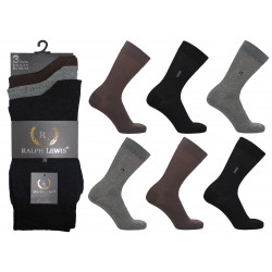 Mens 6-11 Ralph Lewis Hand Linked Toe - Seamless Everyday Socks