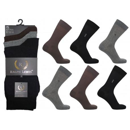 Mens 6-11 Ralph Lewis Hand Linked Toe - Seamless Everyday Socks