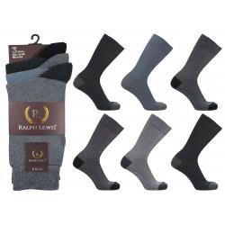 Mens 6-11 Ralph Lewis Dark Colour H&T Everyday Socks