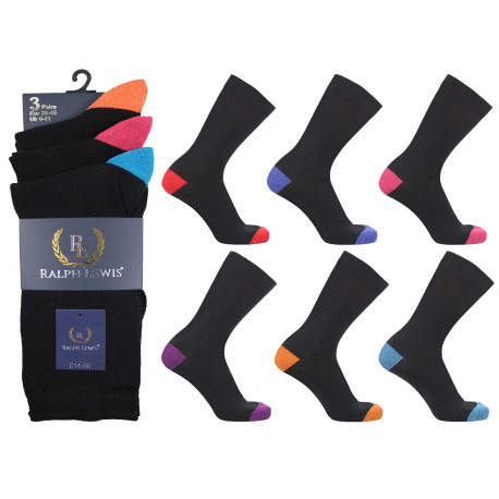 Mens 6-11 Ralph Lewis Colour H&T Everyday Socks