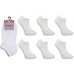 Childrens 9-12 White Trainer Socks