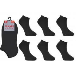 Childrens 12-3 Black Trainer Socks