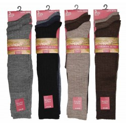 Mens 6-11 Ralph Lewis Long Hose Fine Wool Assorted Socks