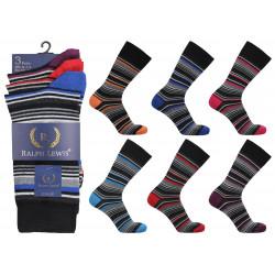 Mens 6-11 Ralph Lewis Stripe Everyday Socks