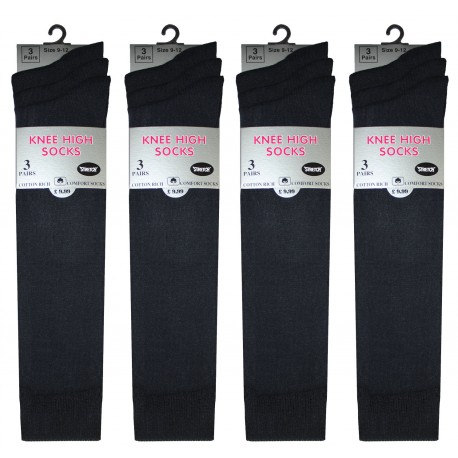 Girls 9-12 Black Knee High Socks