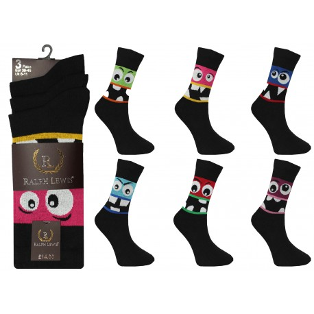 Mens 6-11 Ralph Lewis Eyes Everyday Socks